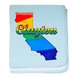Clayton, California. Gay Pride baby blanket
