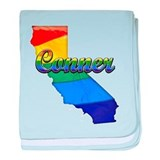 Conner, California. Gay Pride baby blanket