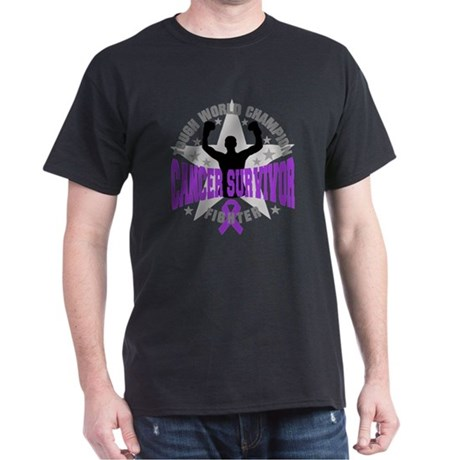 Pancreatic Cancer Tough Survivor Dark T-Shirt