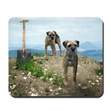 Two Working Terriers and Shov Mousepad