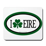 I Love Eire Euro Mousepad