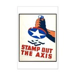 Stamp Out The Axis WW II Poster Mini Poster Print