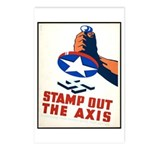 Stamp Out The Axis WW II Poster Postcards (Package