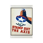 Stamp Out The Axis WW II Poster Rectangle Magnet (