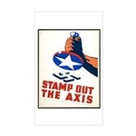Stamp Out The Axis WW II Poster Sticker (Rectangle