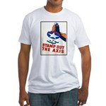 Stamp Out The Axis WW II Poster Fitted T-Shirt