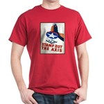 Stamp Out The Axis WW II Poster Dark T-Shirt