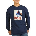 Stamp Out The Axis WW II Poster Long Sleeve Dark T