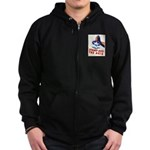 Stamp Out The Axis WW II Poster Zip Hoodie (dark)