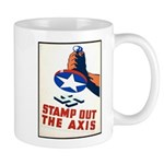 Stamp Out The Axis WW II Poster Mug