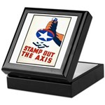 Stamp Out The Axis WW II Poster Keepsake Box