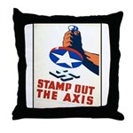 Stamp Out The Axis WW II Poster Throw Pillow