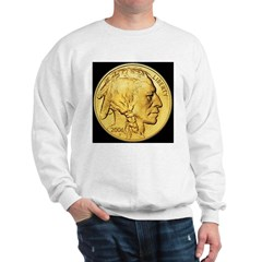 Black-Gold Indian Head Sweatshirt
