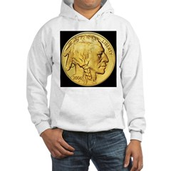 Black-Gold Indian Head Hooded Sweatshirt