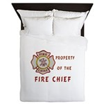 Fire Chief Property Queen Duvet