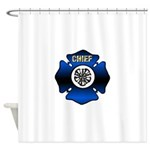 Fire Chief Gold Maltese Cross Shower Curtain