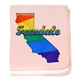 Ferndale, California. Gay Pride baby blanket