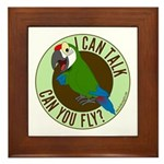 ICT,CYF Military Macaw Framed Tile