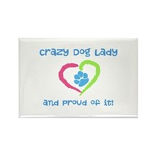 Crazy Dog Lady Rectangle Magnet (10 pack)