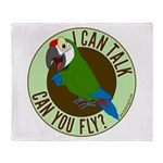 ICT,CYF Military Macaw Throw Blanket