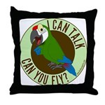 ICT,CYF Military Macaw Throw Pillow