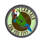 ICT,CYF Military Macaw Wall Clock
