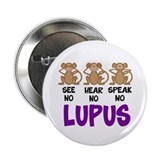 "See No, Hear No, Speak No Lup 2.25"" Button (1"