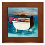 Bath Tub Mermaid Framed Tile