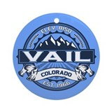 Vail Blue Ornament (Round)
