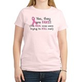 Cute Support breast cancer awareness month think T-Shirt
