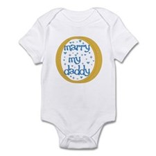 """Marry my Daddy"" Baby Boy Infant Creeper"