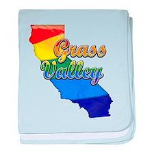 Grass Valley, California. Gay Pride baby blanket