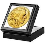 Gold Indian Head Keepsake Box