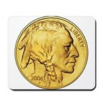 Gold Indian Head Mousepad