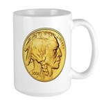 Gold Indian Head Large Mug