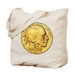 Gold Indian Head Tote Bag