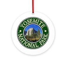Yosemite Nat Park Design 1 Ornament (Round)