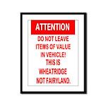Not Fairyland Framed Panel Print