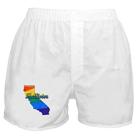 Hollister, California. Gay Pride Boxer Shorts