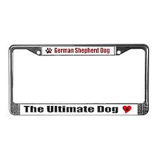 German Shepherd Dog License Plate Frame