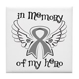 In Memory Brain Cancer Tile Coaster