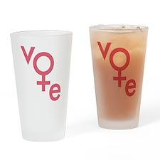 Vote Gender Symbol Drinking Glass