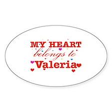I love Valeria Decal
