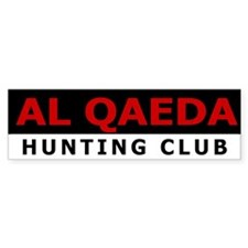 Al Qaeda Hunting Club Bumper Sticker!