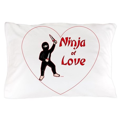 Ninja of Love Pillow Case