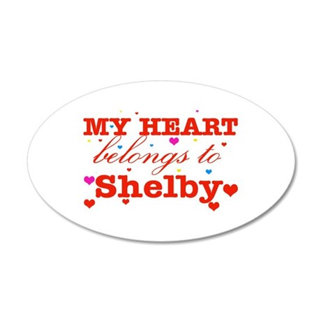 I love Shelby 38.5 x 24.5 Oval Wall Peel