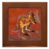 Kangaroo Joey Framed Tile