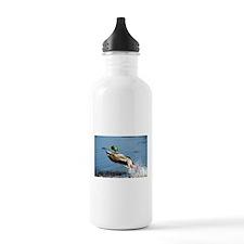 Mallard Moving On Water Bottle