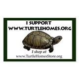 I Turtle Homes Rectangle Decal