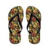 Fruit and Flowers Elegant Flip Flops